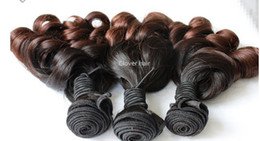 Oxette ombré hair extensions bouncy curly free Shipping Brazilian Virgin Ombre Hair extensions, 3 Pcs Lot Two Tone Colored #1b 33