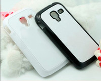 Cheap DIY for samsung galaxy Ace 2 GT-i8160 blank case Sublimation cover cases with metal sheet and glue free shipping DHL or Fedex
