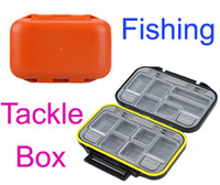 H9793 Orange/Black  Dropshipping!12 Compartments Waterproof Storage Case Fly Fishing Lure Spoon Hook Bait Tackle Box