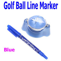 Wholesale 2PCS Golf Ball Line Liner Marker Pen Marks Template Alignment Tool