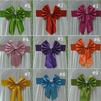 Wholesale Wedding Satin Bow Chair Sash for Chair Factory Supply Fedex