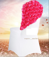 Wholesale Wedding Roses Cap Bow Decoration Banquet Party Bow Chair Sash for Chairs