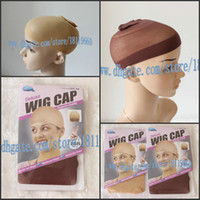 Wholesale 8pcs package Cheap price for you High elestic nylon hairnet mesh black Brown wig caps for wig wearer