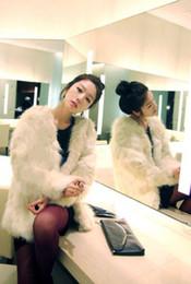 Wholesale Korean new women autumn and winter fashion loose long section wild white faux fur black coat ewwt264