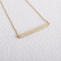 Wholesale 2014 Fashion K Gold Square Bar Necklace