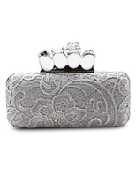 Wholesale Silver Woven Pattern Chain Satin Women s Evening Bag r92 u8 Jv6
