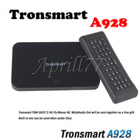 Wholesale android tv Tronsmart A928 RK3188 quad core box GHz Bluetooth WIFI smart tv stick mini pc with free air mouse mic voice OTA upgrade