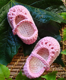 Wholesale CHEAP Pink Velcro girls toddler shoes cotton Hand crochet shoes Baby soft bottom shoes baby wear pair
