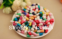 Wholesale Random Colors Love Pills Capsule Message Pills Valentine Gift love paper letter