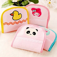 Wholesale Mixed style cartoon animal women NAPKIN SANITARY TOWEL STORAGE BAG Bags Lovely fashion cute lady napkin storage bags Pratcial charm bag