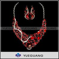 Wholesale New snake like drop earrings stud earrings serpentine water grain big drop red necklace jewelry WYX