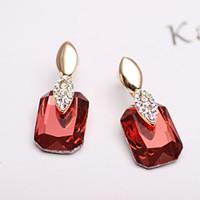 Wholesale Diamond Crystal earrings Korean version of high end luxury fashion jewelry earrings temperament