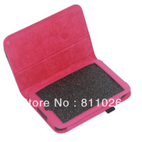 Protective Shell/Skin 7'' For Apple Stand Leather Skin Case Cover For Barnes Noble Nook HD 7,10pcs lot+free shipping