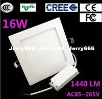 Wholesale 10pcs W square LED panel light ceiling lm super bright warm white