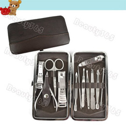 Wholesale 12 in Nail Clipper Kit Nail Care Set Utility Stainless Steel Manicure Set Tools