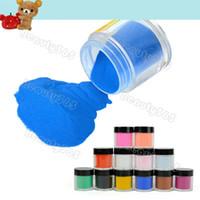 Full Natural Tips Square  Nail Tips 12pcs Mix Colors Acrylic Powder Dust Nail Art Power Set Free Shipping 6159