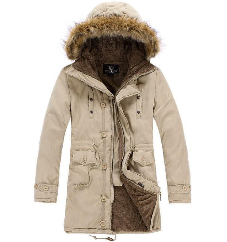 2017 Mens Down Parkas Extremely Thick Winter Coat Long Parkas Men ...