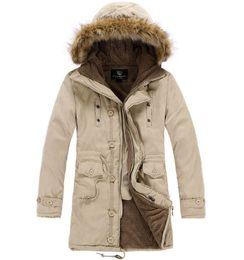 Wholesale Mens Down Parkas Extremely Thick Winter Coat Long Parkas Men Cotton Outwear Parka winter Male Brand Fur Jacket