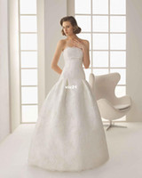 Cheap Wedding dress style DANGELO Satin Ball Gown Strapless With Lace