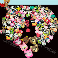 Wholesale 100 Clay Canes Charms Beads Mixed Color Fimo Polymer Clay Animal Butterfly Flower Fruit DIY Slices
