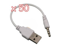 Wholesale USB Data Cable USB DATA Sync Adapter Cable for iPod Shuffle nd Gen Free DHL Shipping