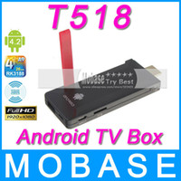 PVRs DVB-S Not Included T518 Android TV Box Stick RK3188 Quad Core Mini PC 1.6GHz 2G 8G WiFi HDMI USB OTG Micro SD Card Bluetooth XBMC Smart TV Receiver