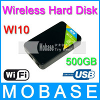 Wholesale Freelander Wi10 HDD Drive Wireless WiFi Mobile Hard Disk G inch RPM USB3 RJ45 for iPhone iPad Android Smart Phone PC