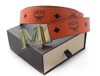 Wholesale 2013 New MCM Belt fashion Men Women M buckle leather belts reversible belts in box sz cm