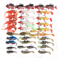 Cheap On sale 35pcs fishing Swim Baits Soft Plastic Lures Lead Jig Heads OSBQ08