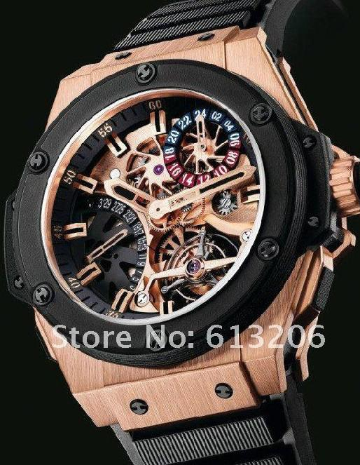 2012 men s luxury rose gold mechanical big power kinetic mens cheap new tags top mens watch best round rubber mens watch automatic