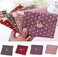 Cosmetic Bag,Mini pouch Cotton Bag Cosmetic Versatile Clutch Purse Cosmetic Bag Wave Point Napkin Receive Package Mini Storage Bag Coin Pouch Purse Case 4 Colors Free Shipping