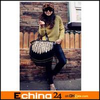 Wholesale New Fashion Multi function Women s Leopard Tassel Shoulder Handbag Tote Bag