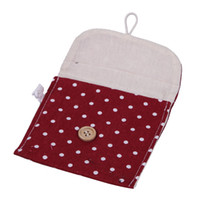 Cosmetic Bag,Mini pouch Cotton Bag 1pcs Cosmetic Versatile Clutch Purse Cosmetic Bag Wave Point Napkin Receive Package Mini Storage Bag Coin Pouch Purse Case Burgundy GES1*1