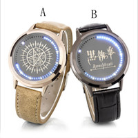 Wholesale Cartoon Black Butler Sebastian Michaelis Design Waist Watches Led Touch Clock