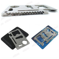 Hacksaw Steel Camping Knife Hot Multifunction Credit Card Knife Survival Knife Camping Tool 11 kinds of functions