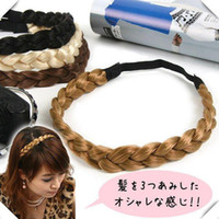 Wholesale Women Hair Accessories Headbands mm width Black Elastic Head bands Neat Wig Braid Headbands