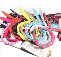 Wholesale Min order can mix order price bow headwear Rabbit Bunny Ear Wire headband Hair Band hair jewelry