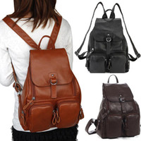 Wholesale New Colours Tote Hasp Weekend Bag Women s Leather backpack Travel handbag FR59 smileseller2010