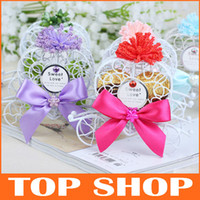 Wholesale Favor Holders Iron Horse Wedding Box Trolley Personalized Wedding Candy Boxes HQ0091