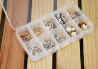 Wholesale 10cells Transparent jewelry boxes Pill box beads buttons needles fishing gear diy parts stones tools portable storage container