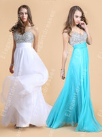 Wholesale Best selling Sexy Inspired Beaded Sequins Sheer Straps Chiffon Long Prom Dresses Party Cheap Dress