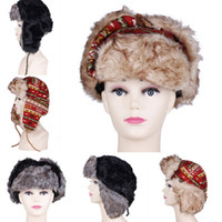 Wholesale Trendy Unisex Earflaps Russian Bomber Trooper Aviator Caps Trapper Hats Winter Warm DKD