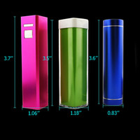 Wholesale Mix External Battery mAh Emergency Power Bank Charger Portable for Phone S GS HTC S C Samsung Retail Package Box Colorful Various