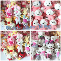 Multicolor vending machine - 50PCS rabbit bears animals toys Plush toy doll wedding gift vending machine doll birthday gift