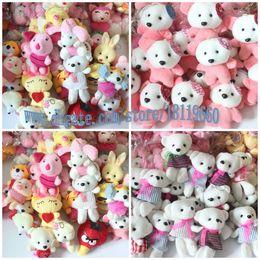 Wholesale 50PCS rabbit bears animals toys Plush toy doll wedding gift vending machine doll birthday gift