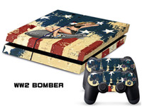 PS4   Vinyl Decal Skin Stickers Wrap For PS4 Play Station 4 Console+ Controllers-WW2 Bomber-0003