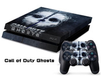 Wholesale Vinyl Decal Skin Stickers Wrap For PS4 Play Station Console Controllers Call of Duty Ghost
