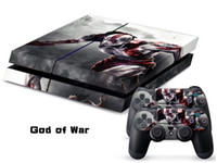 PS4   Vinyl Decal Skin Stickers Wrap For PS4 Play Station 4 Console+ Controllers-God of War-0007