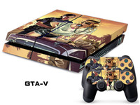 PS4   Vinyl Decal Skin Stickers Wrap For PS4 Play Station 4 Console+ Controllers-GTA-V-0008