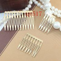 Wholesale 12 fork mm antique bronze brushed vintage hair combs base setting qy517